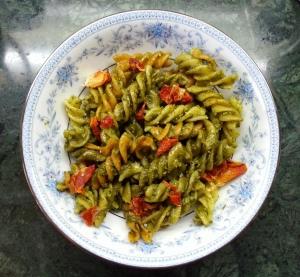 Cheesy Pesto with Fusilli