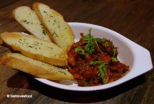 Chorizo with Garlic Bread