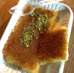 """Kunafa - Nablusi cheese"" by @peartreediaries"
